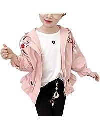 56e7e12d6d234 子供 ジャケット 女の子 子供服 ウィンドブレーカー コート 秋 フード付き 長袖 花柄 ...
