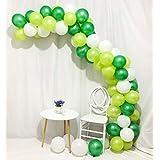 Sorive 10インチ ホワイト ライトグリーン ダークグリーン ラテックスバルーン 100個 結婚式 誕生日パーティー ベビーシャワーの装飾用