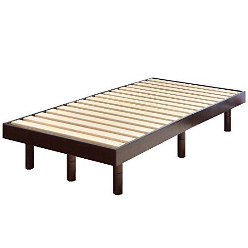 タンスのゲン 天然木 すのこベッド セミダブルベッド 3段階高さ調節 ブラウン 11719146 DB
