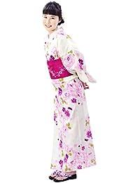 [和道楽着物屋] 浴衣セット福袋 3点セット(浴衣、作り帯、下駄) 簡単 レディース yukata 番号ykt-1
