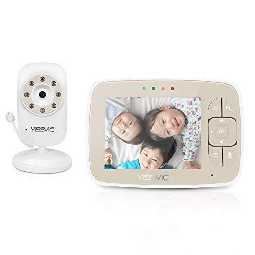 YISSVIC ベビーモニター 見守りカメラ 遠隔監視カメラ 双方向音声通信 暗視機能付き ベビーカメラ 出産祝いプレゼント クリスマス 日本語取扱説明書付き (3.5インチ)
