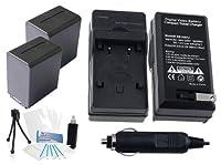 2- Pack np-fh100大容量交換用電池with急速旅行充電器Sonyビデオカメラ–選択UltraproバンドルIncludes :カメラクリーニングキット、スクリーンプロテクター、ミニ旅行三脚