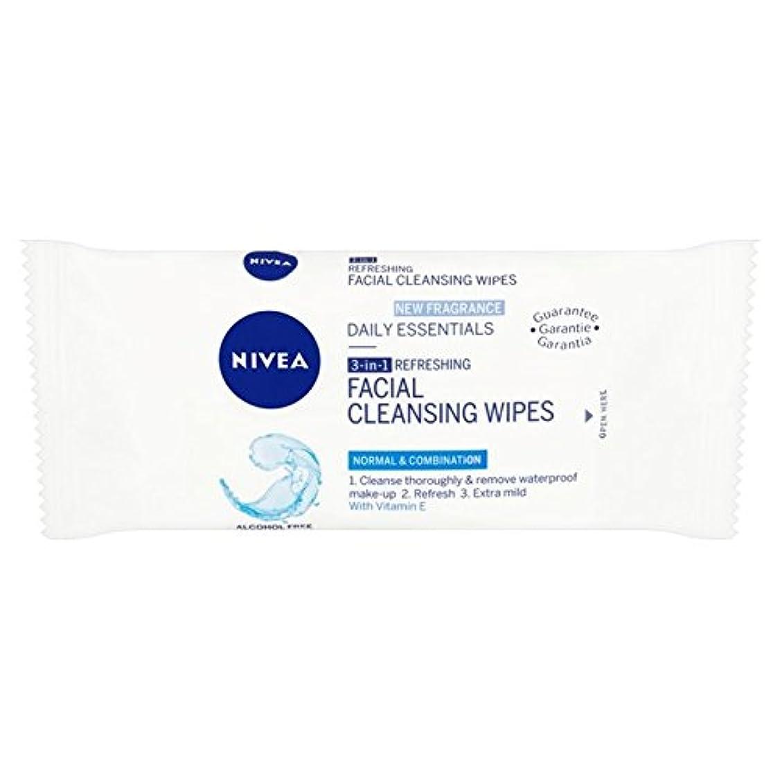 クック追放樫の木Nivea Mini Facial Cleansing Wipes Travel Pack 7 per pack (Pack of 6) - ニベアミニ洗顔パックあたりの旅行パック7ワイプ x6 [並行輸入品]