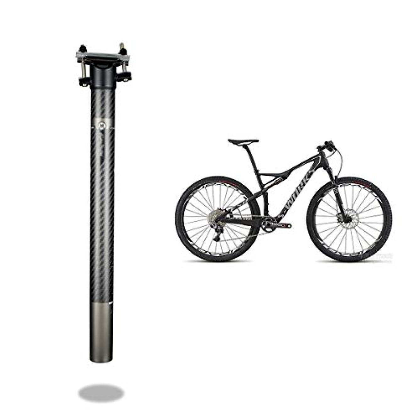 顎証人ごちそうMTBロードバイクBMX用自転車シートポスト27.2mm 30.8mm 31.6mm x 350mm / 400mmフルカーボンファイバーシートポスト(A06)