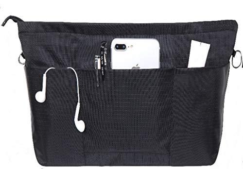 バッグインバッグSeavish bag in bag インナーバッグ バッグイン レディース メンズ (L, ブラック)