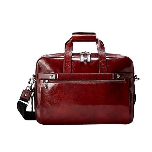 [ボスカ] Bosca メンズ Single Gusset Stringer Bag ブリーフケース Dark Brown [並行輸入品]