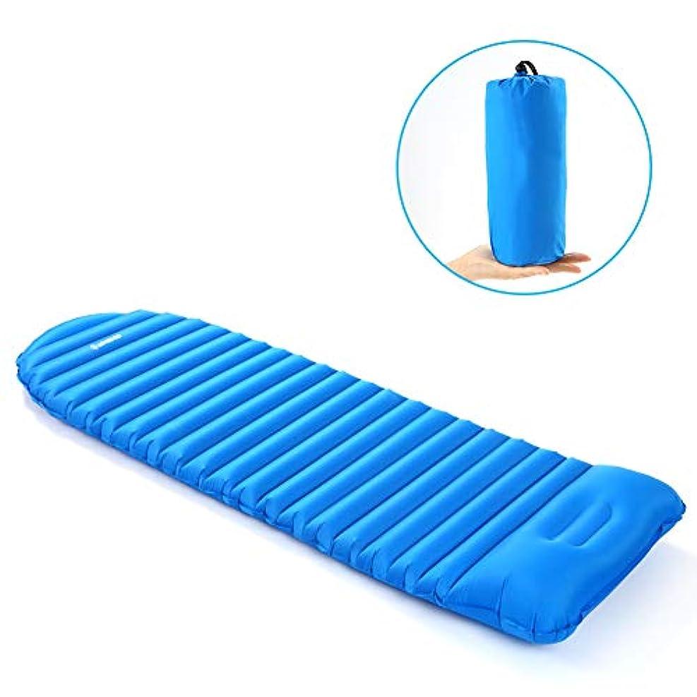 欠乏置くためにパック略奪防湿エアマットレスインフレータブルスリーピングパッドキャンプマット厚スリーピングベッドビーチピクニックマット内蔵枕