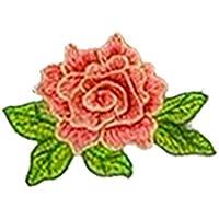 (デマ―クト)De.Markt アップリケ 刺繍花 ワッペン 可愛い 補修ワッペン 衣類アクセサリー 装飾用 装飾ワッペン 手芸用 綺麗 縫製 DIY 工芸品の装飾 縫い付け シンプル 15色選択 12cm*9cm
