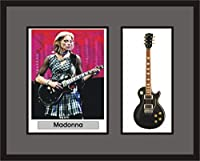 MADONNA Guitar Shadowbox Frame エレキギター エレクトリックギター (並行輸入)
