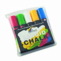 Rainbow Liquid Chalk Markers, Mixed Colours, Pack of 5 by The Rainbow Liquid Chalk Specialists