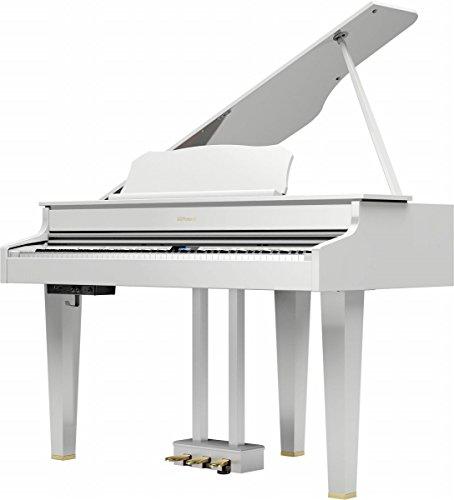 ローランド 電子グランドピアノ 白塗鏡面塗装仕上げ  高低自在椅子&楽譜集付き Roland Digital Grand GP607-PWS