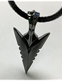 Assal Arrowhead ( e194 )ブラック仕上げペンダント – Freeブラックネックレス – 意味:常にSure and on Target by Bico