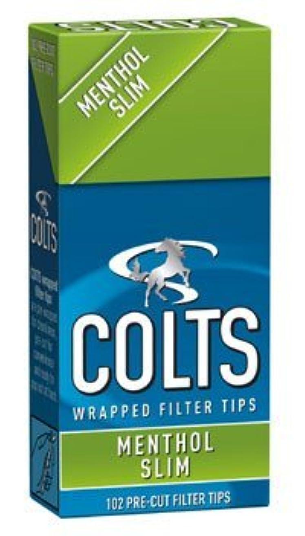 項目カート人差し指[colts] コルツ スリム メンソール フィルター 102個入りx10パック 手巻きタバコ