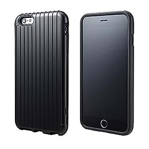 <iPhone 6s Plus 対応>PRECISION Hybrid Case for iPhone 6 Plus 意匠出願中 ICカードポケット 磁気シールドシート ストラップホール iPhone6Plus iPhone5.5 SL344BK Suica PASMO manaca TOICA PiTaPa ICOCA SUGOCA nimoca はやかけん Edy iD nanaco WAON QUIKPay