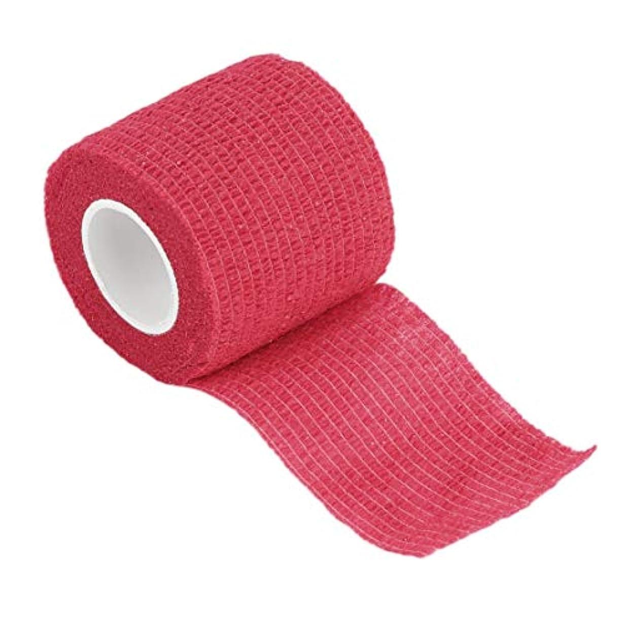 酸重大アイスクリーム5cm * 4.5m不織布ファブリック自己接着包帯ラップ弾性接着剤応急処置テープストレッチ肘と膝パッド(Rustle666)