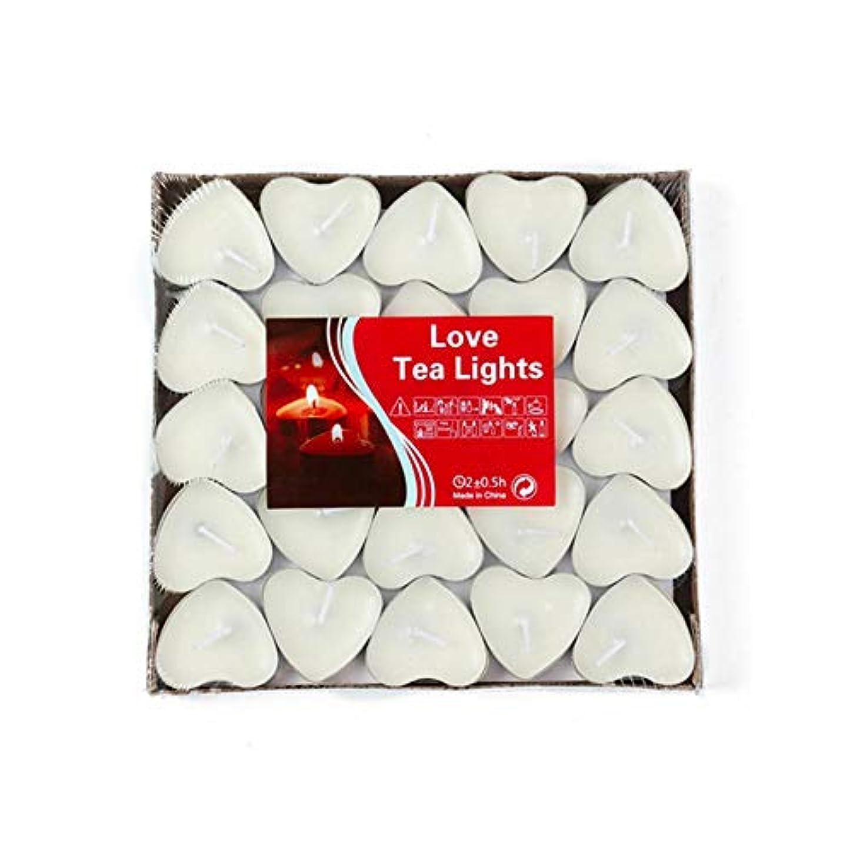 一月法令災難【Hwagui】キャンドル 心の形 アロマキャンドル ろうそく ティーワックス 人気 手作り お茶の香り 50個 2時間 ZH010