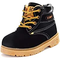 BENHERO Kids Boys Girls Boots Rain Winter Snow Ankle Booties | Classic and Waterproof | Hiking Outdoor Martin Boots (Toddler/Little Kid)
