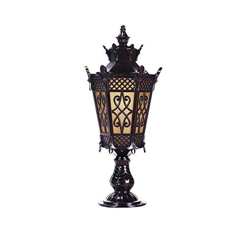 キャビン便利四分円Pinjeer ヨーロッパの宮殿アンティークIP42防水ガーデンガラスコラムランプE27 tranditionalヴィンテージ屋外金属アルミポストライト風景ヴィラドアフェンス装飾柱ライト