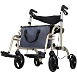 ALUA- Old-Age Shopping Cart, Old Man Trolley, Grocery Shopping Aid, Aluminum Alloy Scooter, Four-Wheeled Folding, Wheelchair
