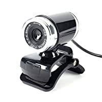 Mercu USB 2.0Web Cam 12メガピクセルのHDカメラwithマイククリップ式360度デスクトップSkypeコンピュータPCラップトップブラックノートパソコンノートブック