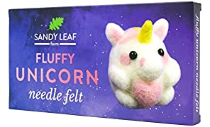 Fluffy Unicorn Needle Felt Kit - Includes Everything You Need to Make Your Own Fluffy Unicorn - Perfect for Beginners