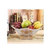Hongyuantongxun001 フルーツプレート、ホームヨーロッパのフルーツバスケット、クリエイティブシンプルなファッションスタイル、ヨーロッパのハイビスカスの花の真珠の白,実用 (Color : 5)