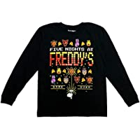 Five Night at Freddy's Graphic Game Over Boys Long Sleeve Black (Large 10/12)