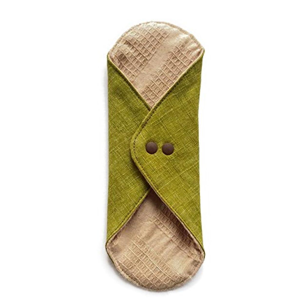 ホストピークしないでください華布のオーガニックコットンのあたため布 Lサイズ (約18×約20.5×約0.5cm) 彩り(抹茶)