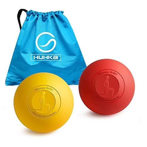 マッサージボール 2018最新版 2個組 ストレッチボール 肩・背中・腰・お尻・太もも・ふくらはぎ・足裏・首 筋膜リリース トリガーポイント 自宅でも利用でき
