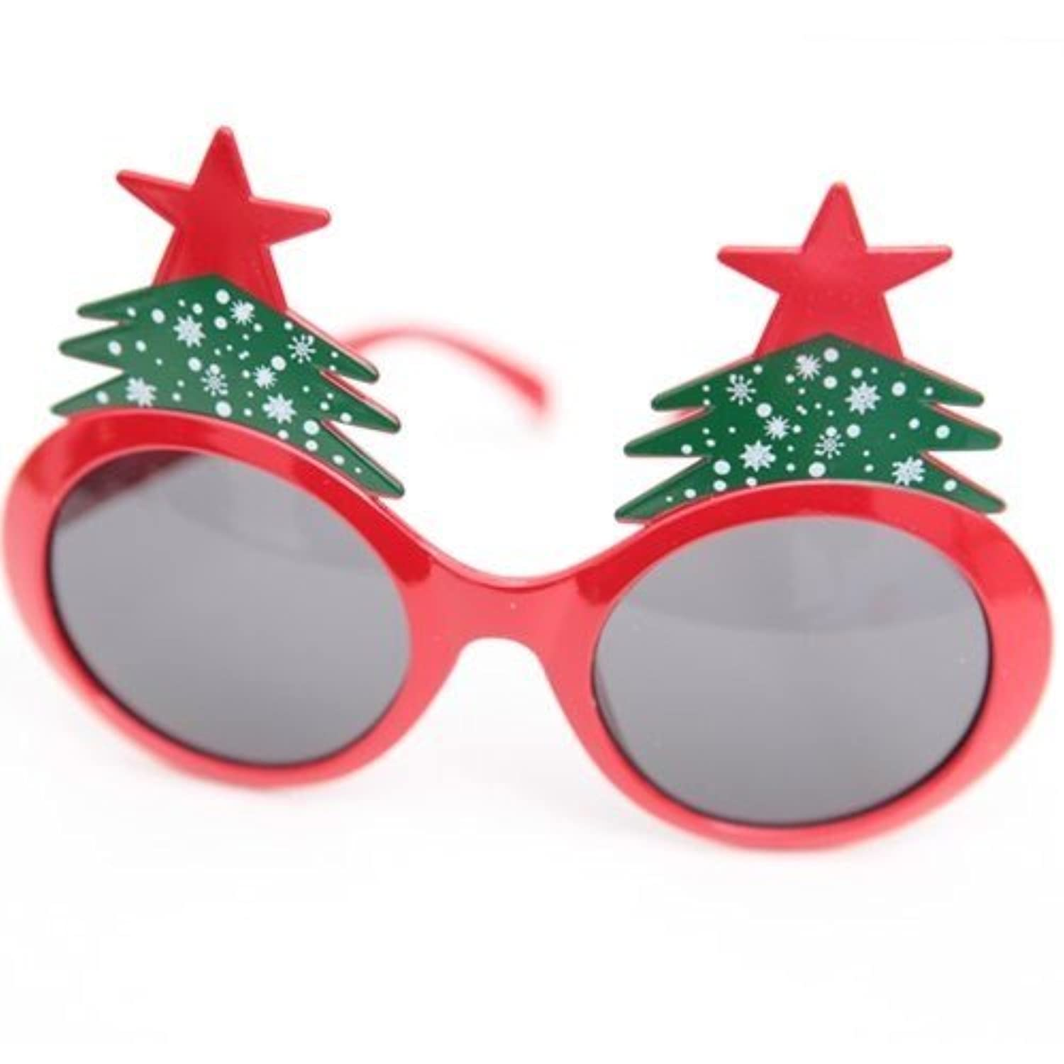 Fun Party Toy - Christmas tree glasses (red)