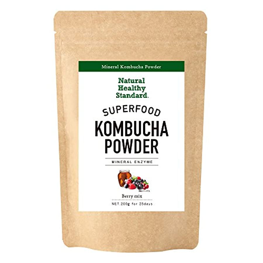 サラミ制約アッパーNatural Healthy Standard ミネラルコンブチャパウダー ベリーミックス味 200g