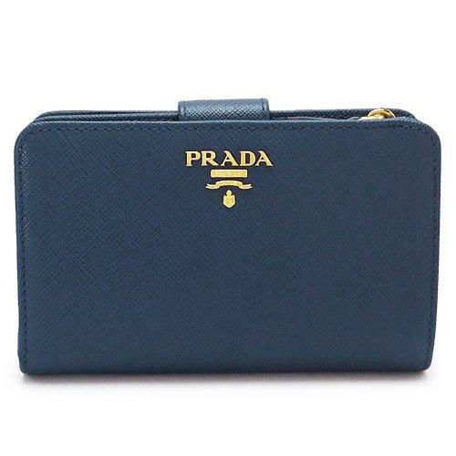 (プラダ)PRADA 折財布 1ML225 ZLP F0RAU/SAFFIANO MULTIC BLUETTE+ASTRALE 財布 二つ折り サフィアーノマルチ レザー ブリエッタ×AS [並行輸入品]