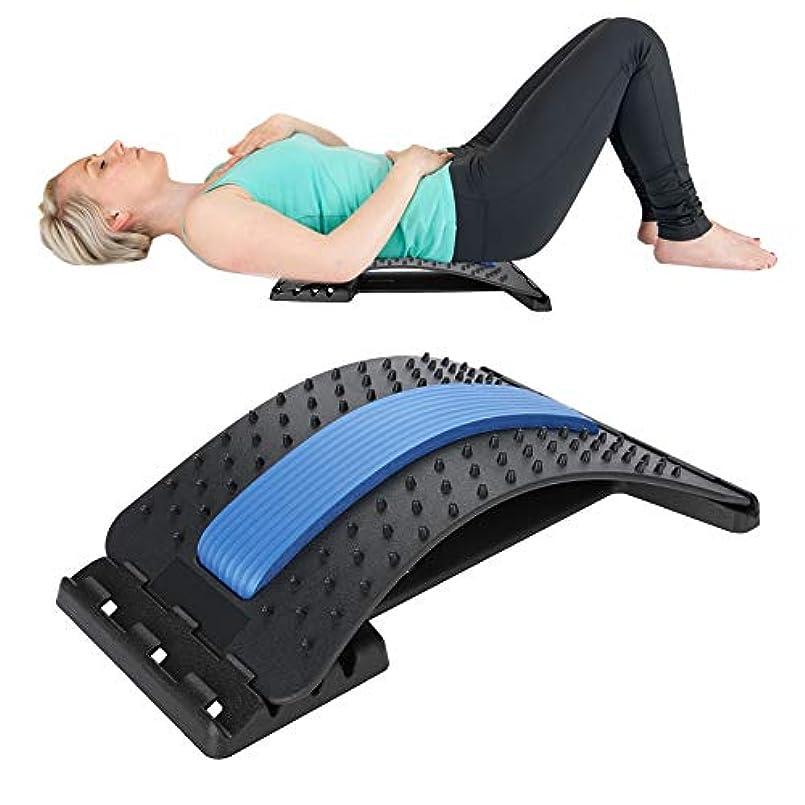 グラフィックナチュラ面腰部背部伸張器装置、背部マッサージャー背部腰痛のための背部腰痛サポート牽引の伸張のリラックスした脊椎減圧枕