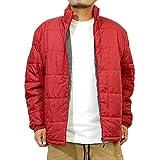 コスビー(cosby) 中綿ジャケット メンズ 大きいサイズ 光発熱素材 軽量 防寒 機能性 スタンド襟 ジップアップ ブルゾン 4L レッド(01)