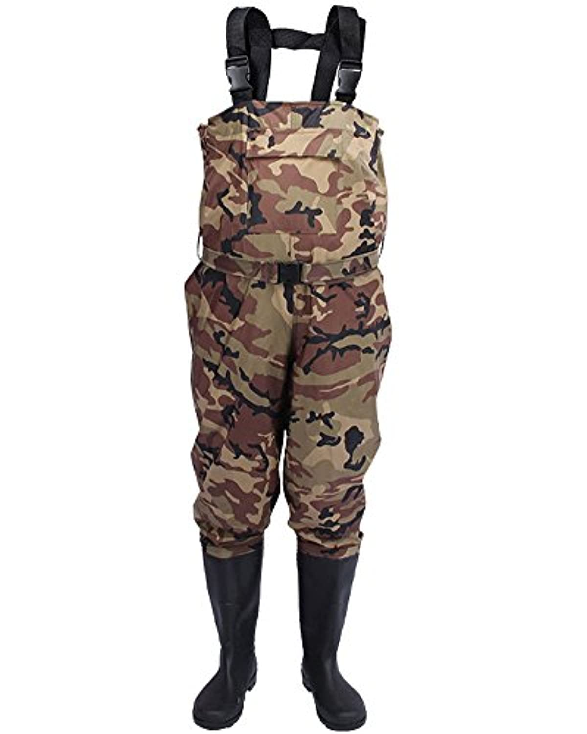 nachvornナイロンカモBootfoot胸釣りハンティングWaders