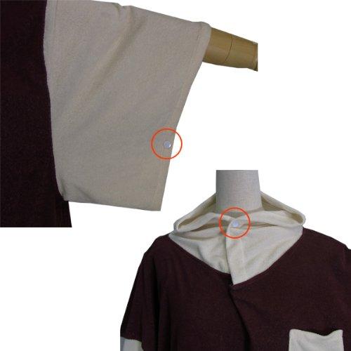 dlife[デライフ]お着替えポンチョ[日本製]海のお着替え・バスローブに! (ココアブラウン×ホワイト[生成り])