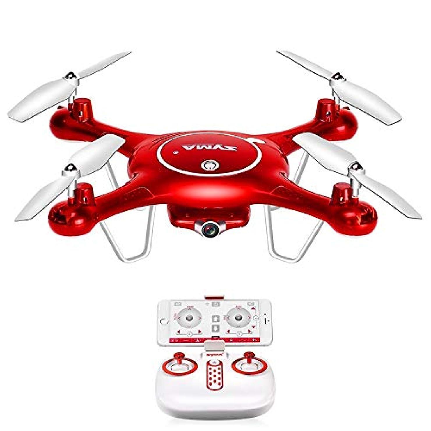 洞察力のある気付く味方X5UW WiFiカメラ付きHD 720Pリアルタイム伝送FPVクワッドコプター2.4G 4CH RCヘリコプタードロンクワドロコプタードローンインRCヘリコプター、赤