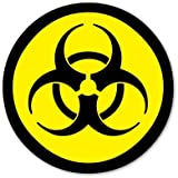 Biohazard Radioactive Danger Circle Vinyl Sticker - Car Window Bumper Laptop - 6-Inch