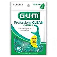 GUM プロフェッショナルクリーンFlossersフレッシュミント - 90 CT、5パック