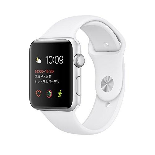 MNRQ2J/A ホワイトスポーツバンド Apple Watch Series 2 38mm(ウェアラブル端末)