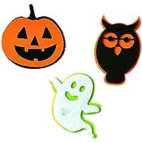 Baosity 3個入 ハロウィン サイン ゴースト カボチャ フクロウ 写真の小道具 玩具