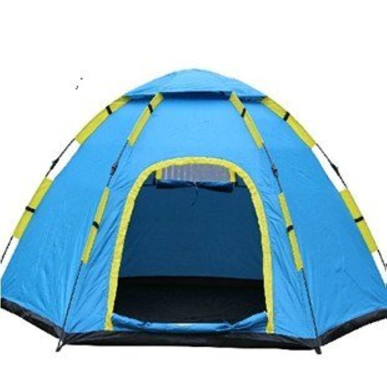 化粧廃止する孤独なOkiiting 屋外の自動キャンプテント防水と雨防止の日焼け止め抗蚊インストールが簡単安全で環境に優しいファーストキャンプクイックオープンテント登山/キャンプ/釣り5-8人 うまく設計された