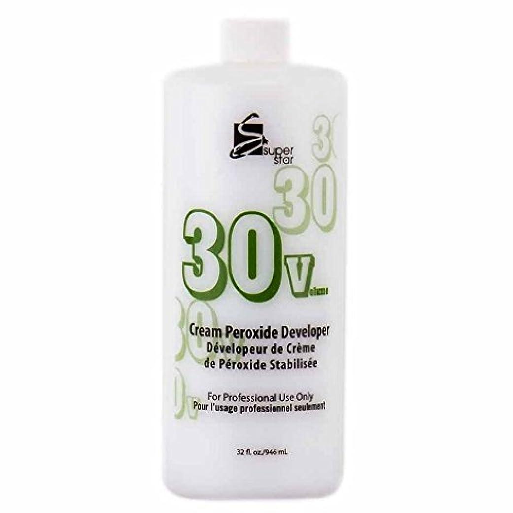 メンタル今抵抗SUPER STAR Stabilized Cream Peroxide Developer 30V HC-50303 by Superstar