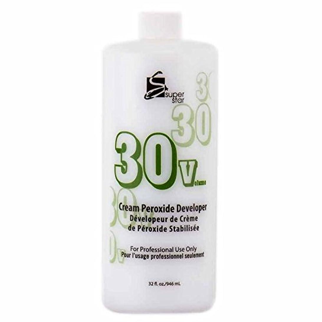 共和党ペッカディロ弱まるSUPER STAR Stabilized Cream Peroxide Developer 30V HC-50303 by Superstar