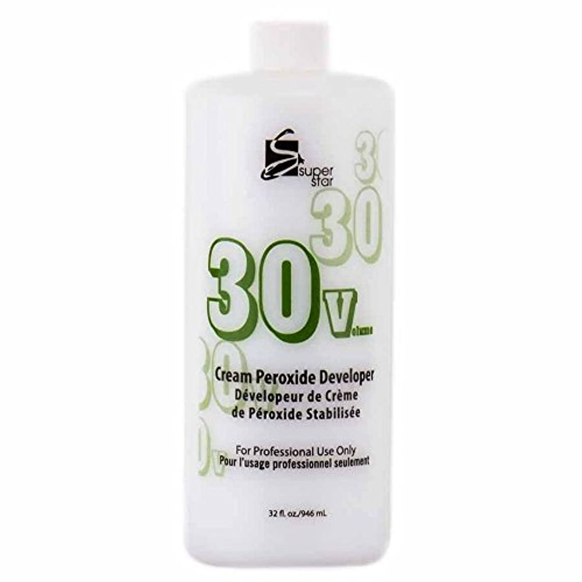 輝く相談鰐SUPER STAR Stabilized Cream Peroxide Developer 30V HC-50303 by Superstar