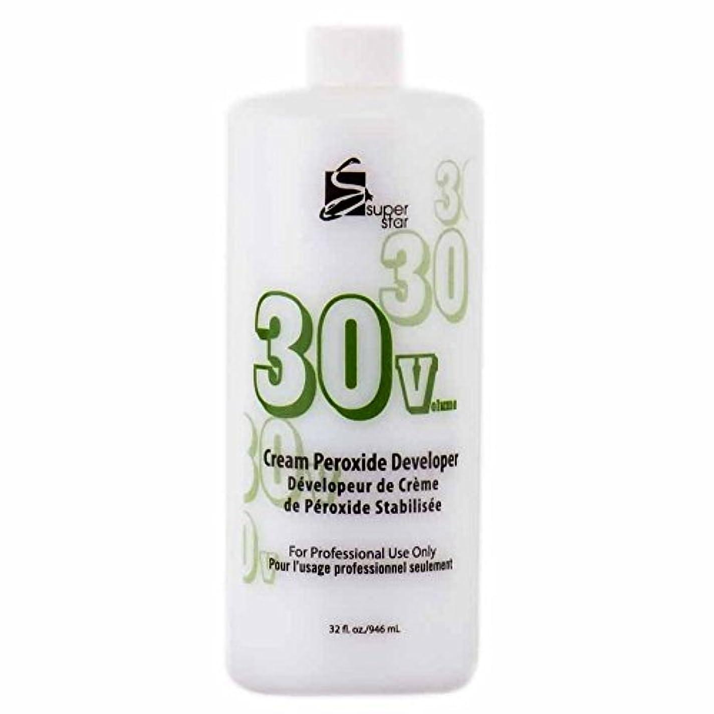 お金ゴムムスタチオ判読できないSUPER STAR Stabilized Cream Peroxide Developer 30V HC-50303 by Superstar