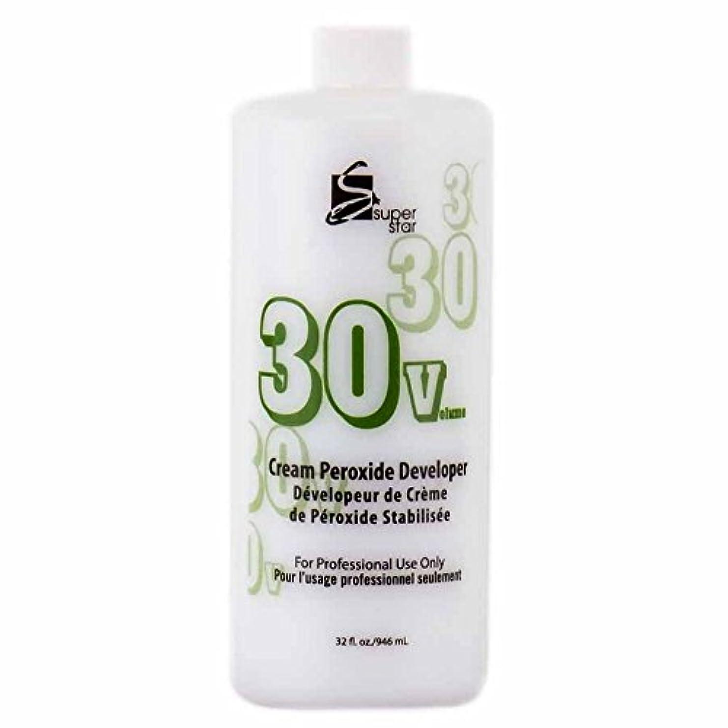 コンピューター膨らませる復讐SUPER STAR Stabilized Cream Peroxide Developer 30V HC-50303 by Superstar