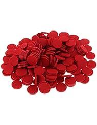 Fenteer 約200個入り 詰め替えパッド 精油付き アロマディフューザー 交換用 オイルパッド 全11色 - 赤
