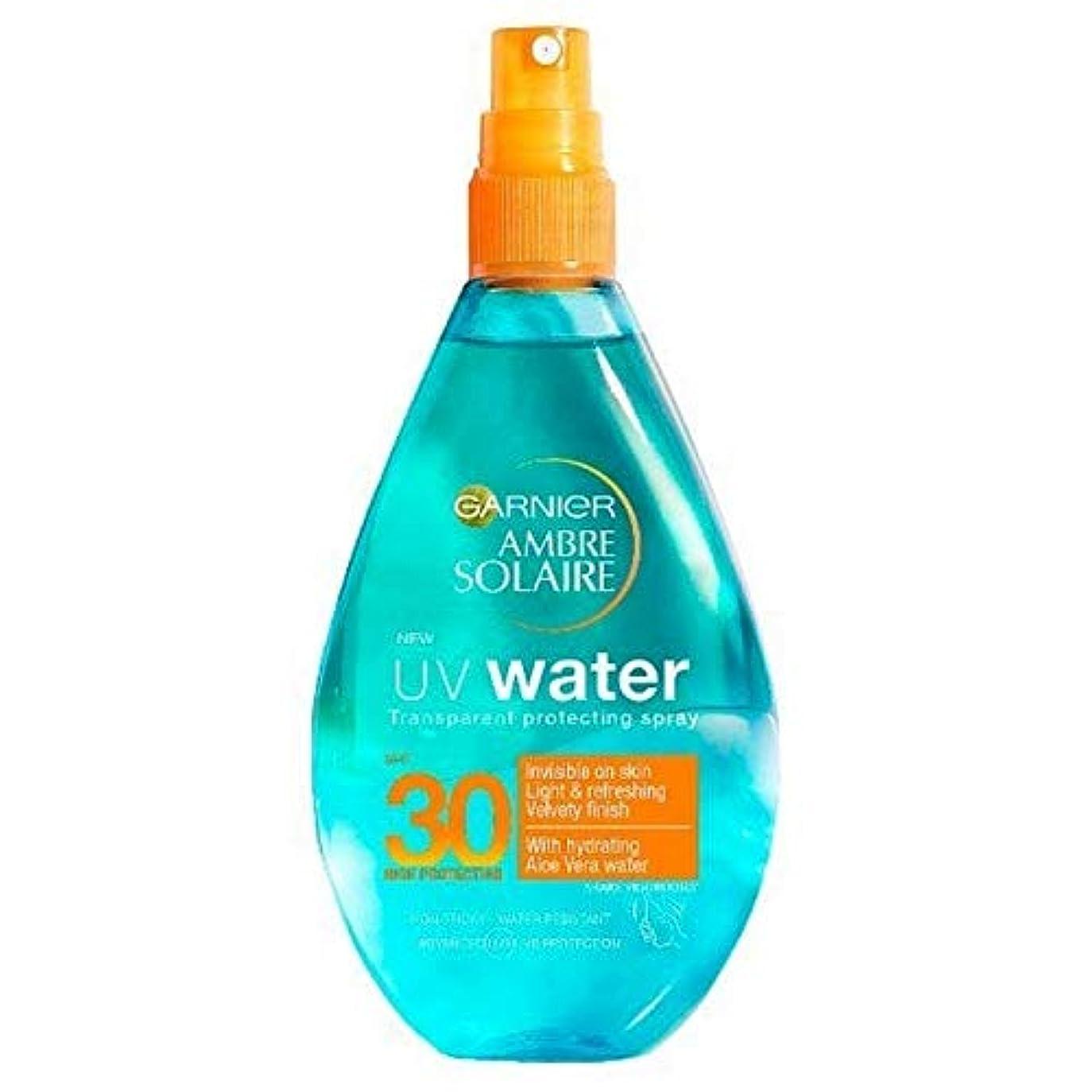 テクニカル遅らせる目に見える[Garnier ] アンブレSolaire紫外線水明確な日クリームスプレーSpf30 150ミリリットル - Ambre Solaire UV Water Clear Sun Cream Spray SPF30 150ml...