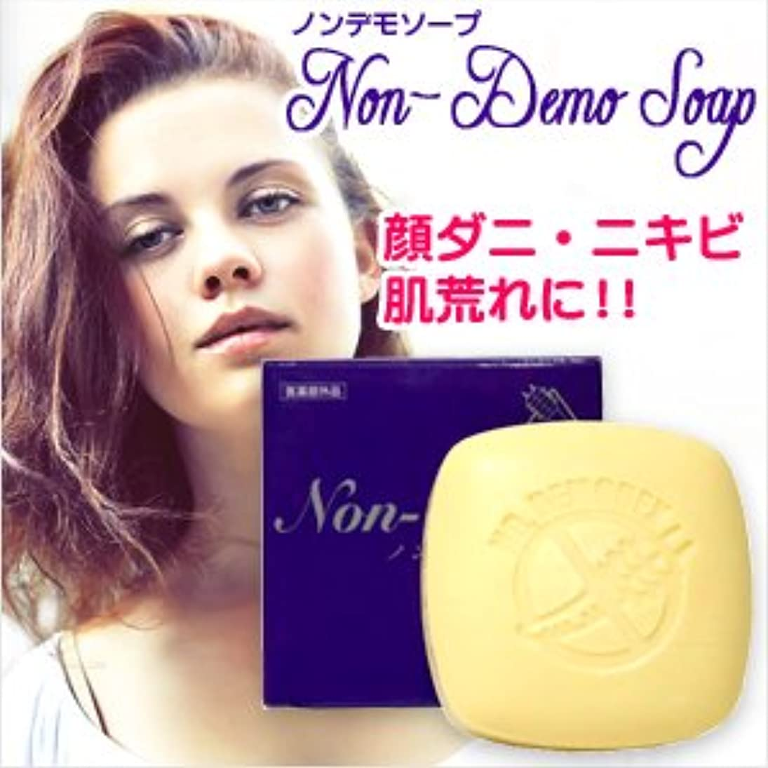 視聴者比喩エラー(医薬部外品) 顔ダニ石鹸 ノンデモソープ (Non-Demo Soap) 130g